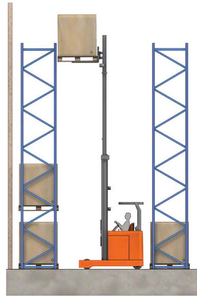 Niektóre wózki widłowe wysokiego składowania mogą podnieść ciężar na wysokość powyżej 10 metrów