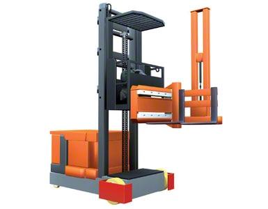 Wózek systemowy trójstronny z ruchomą kabiną operatora