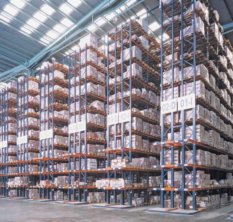 Magazyn centralny przedsiębiorstwa z branży ceramicznej z bezpośrednim dostępem do palet
