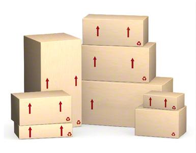 Skrzynia opakowaniowa wysyłana przez dostawcę.