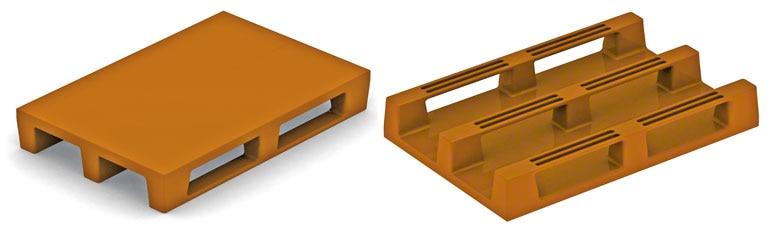 System konstrukcyjny tych palet plastikowych jest taki sam jak w przypadku drewnianych europalet. Nie powinny być problematyczne, chyba że ich wytrzymałość nie będzie wystarczająca.