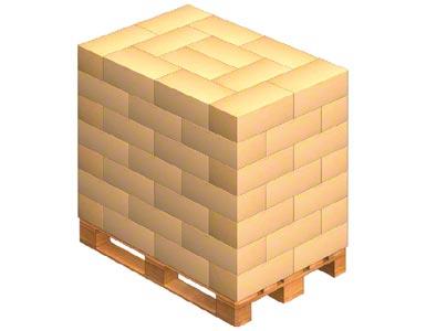 Aby prawidłowo przygotować palety do transportu, znajdujący się na nich towar można ułożyć w sposób przeplatany
