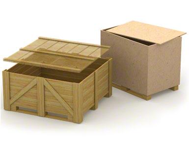 Dolne prowadnice skrzyniopalet drewnianych mogą być słabe i mało wytrzymałe, ponieważ zazwyczaj stosowane są do pojedynczego transportu bez powrotu.