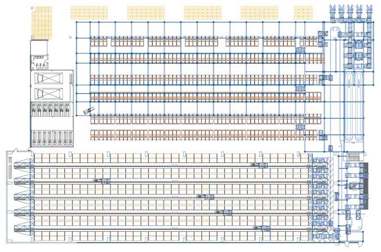 Przykład rozmieszczenia stanowisk kompletacji w magazynie automatycznym