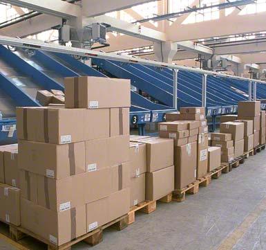 Sortowanie przesyłek według klientów lub trasy.