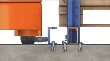 System prowadzenia z profilem UPN 50