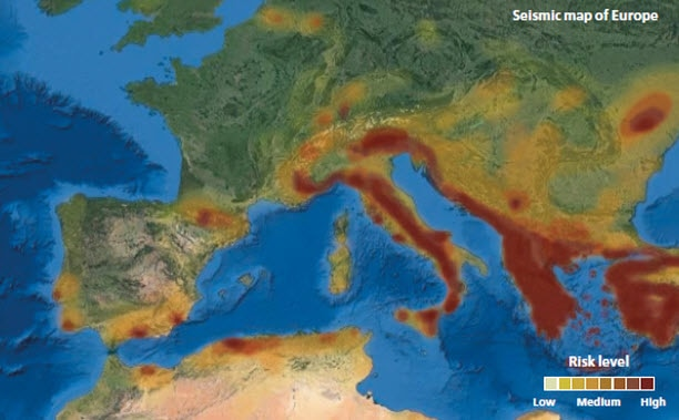 Sejsmiczna mapa Europy