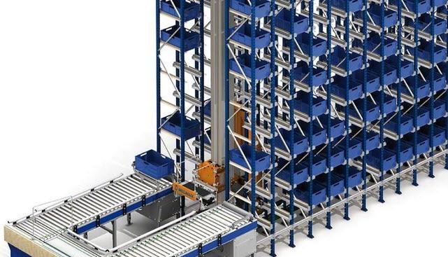 Automatyczny magazyn pojemnikowy miniload dla firmy Project