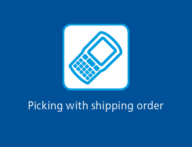 Picking with shipping order