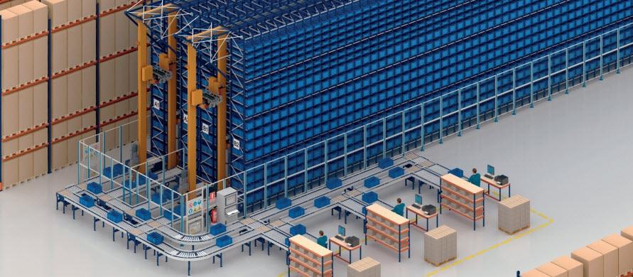 Regały paletowe i magazyn miniload w centrum logistycznym COVAP