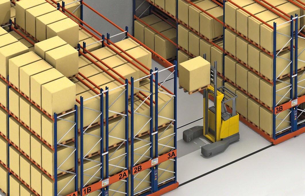 Regały dla obszarów aktywnych sejsmicznie do składowania produktów Vibar Nord
